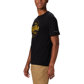 Columbia Path Lake Graphic T-shirt Herrer, black round bound
